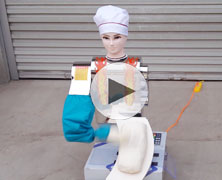 新款厨师型全自动刀削面机器人削面视频